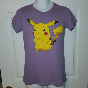 Mighty Fine Pokémon Purple Pikachu Top